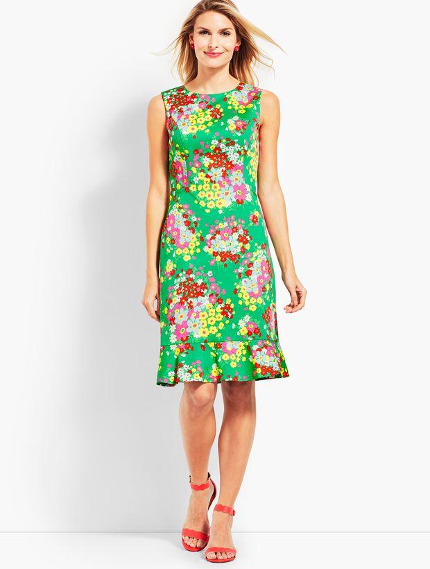 Springtime Floral Shift Dress