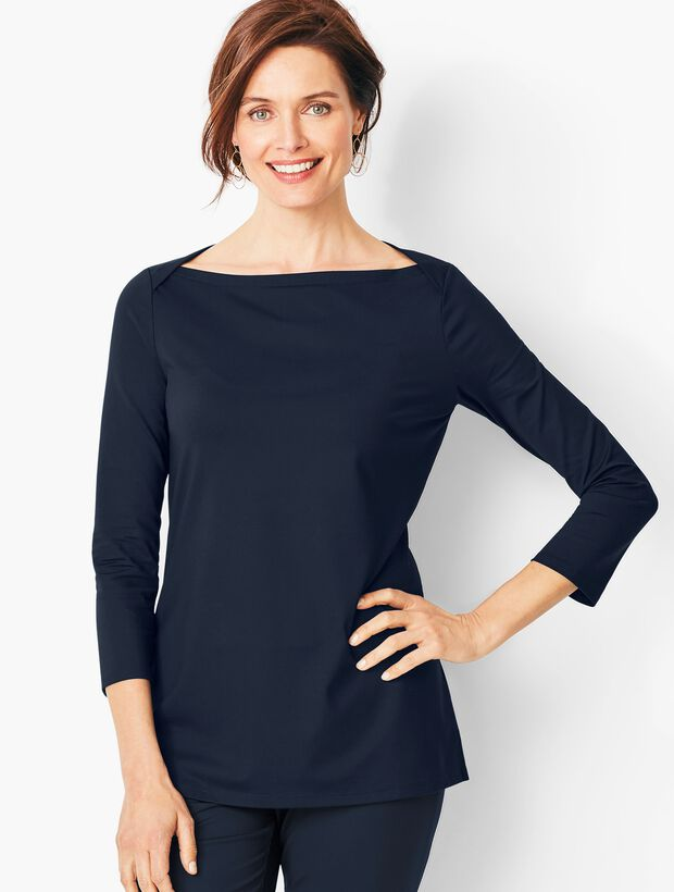Knit Jersey Tunic Top