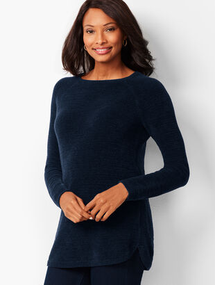 Crewneck Chenille Sweater