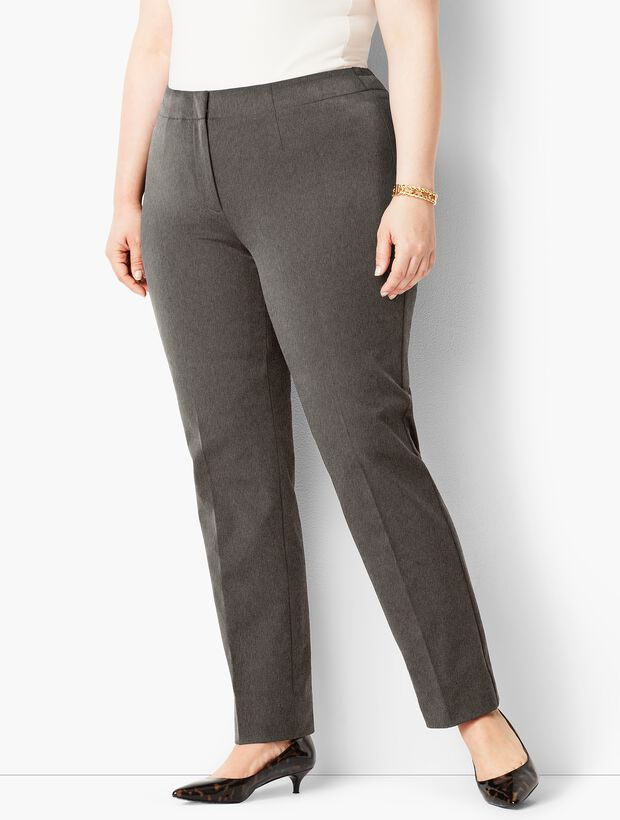 Plus Size Exclusive Refined Bi-Stretch Tailored Straight-Leg Pants