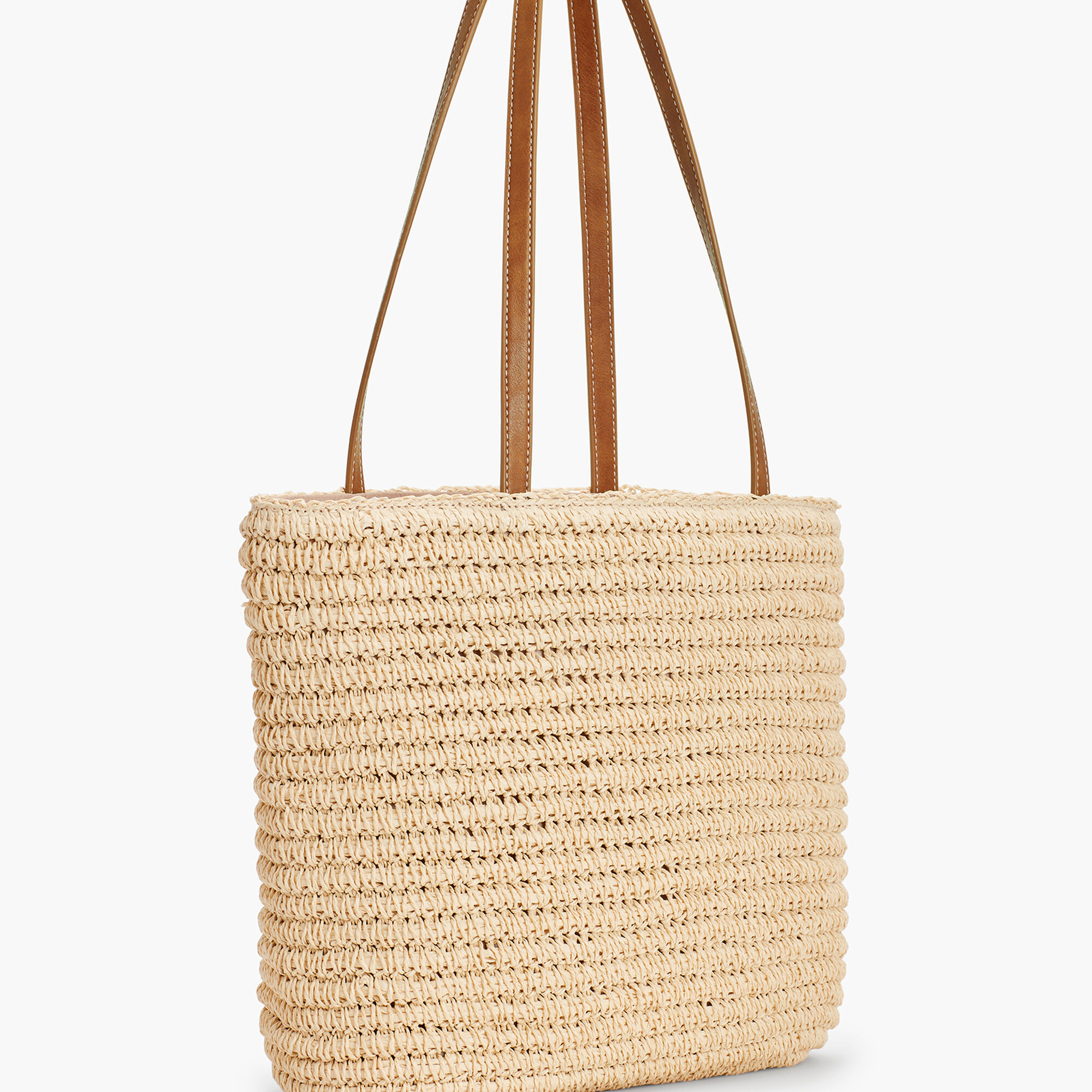 Crochet Paper Straw Tote Bag