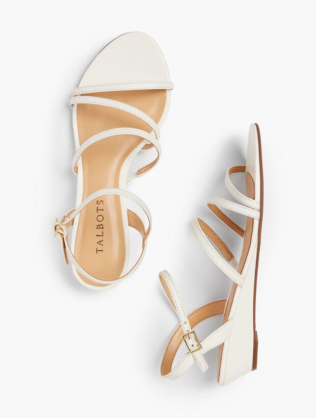 5af21ef884e Images. Capri Multi-Strap Mini-Wedge Sandals - Nappa Leather