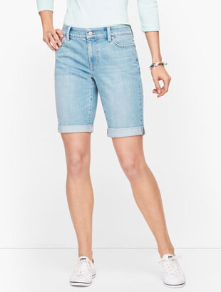 Girlfriend Denim Shorts - Miller Wash
