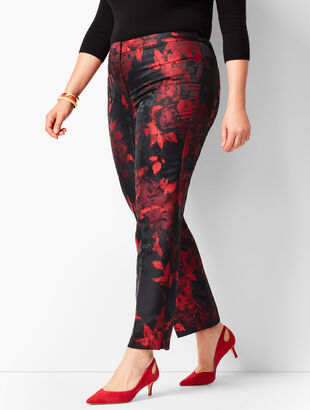 Tailored Hampshire Ankle Pants - Painterly Floral