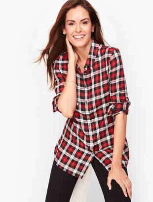 Classic Cotton Shirt - Red Pop Plaid