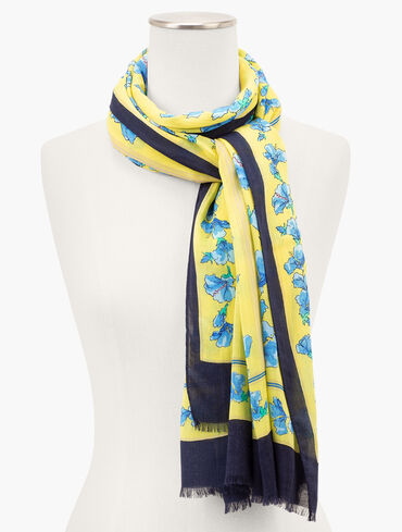 Skipping Floral Oblong Scarf
