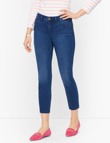 Plus Size Exclusive Jegging Crops - Moon Wash - Curvy Fit