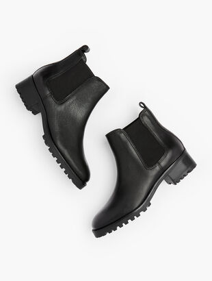 Chelsea Pull-On Booties - Pebble Leather