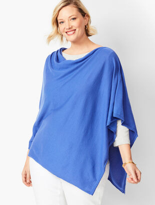 Plus Size Asymmetric Poncho