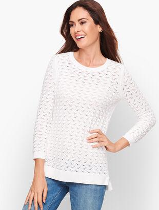 Textured Linen Blend Sweater