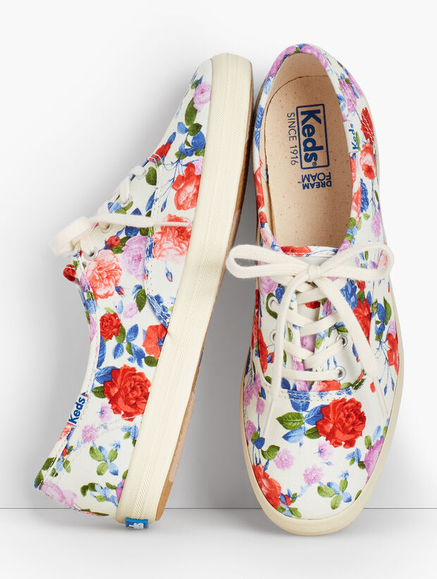 Keds(R) Champion Sneakers - Talbots Floral Exclusive