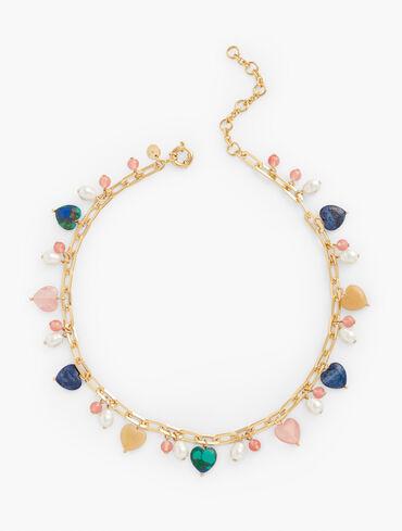 Love Charm Statement Necklace