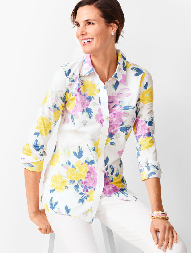 Classic Cotton Shirt - Floral Bouquet