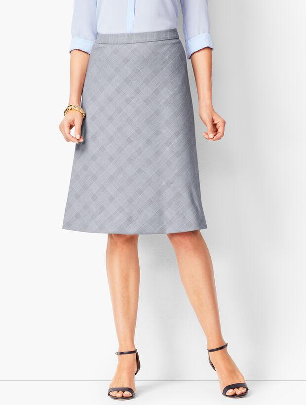 Glen Plaid Fit & Flare Skirt