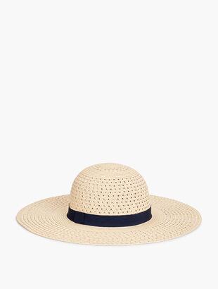 Wide-Brim Paper-Straw Hat