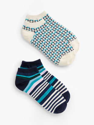 T by Talbots Two Pair Sock Set