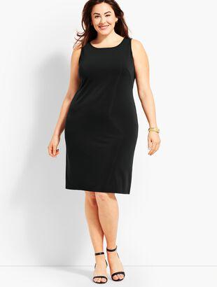 Sleeveless Matte Jersey Knit Shift Dress