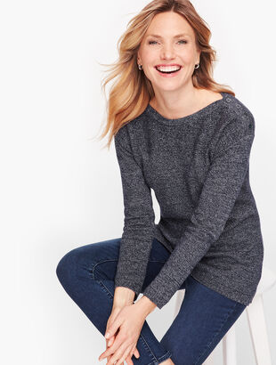 Contrast Stitch Sweater - Marled