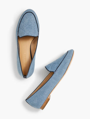 Ryan Loafers - Quilted Denim