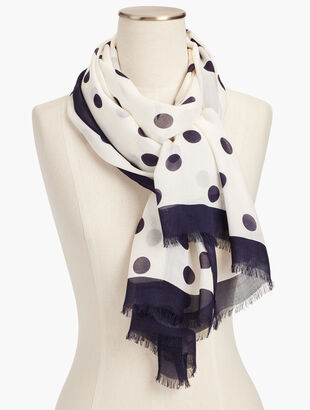 Dotted Border Scarf