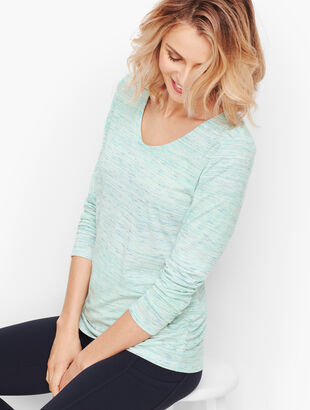 Side Ruched Tee - Space-Dyed
