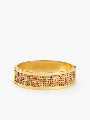 Basketweave Inset Bangle