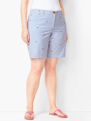 Plus Size Girlfriend Shorts - Watermelon Print