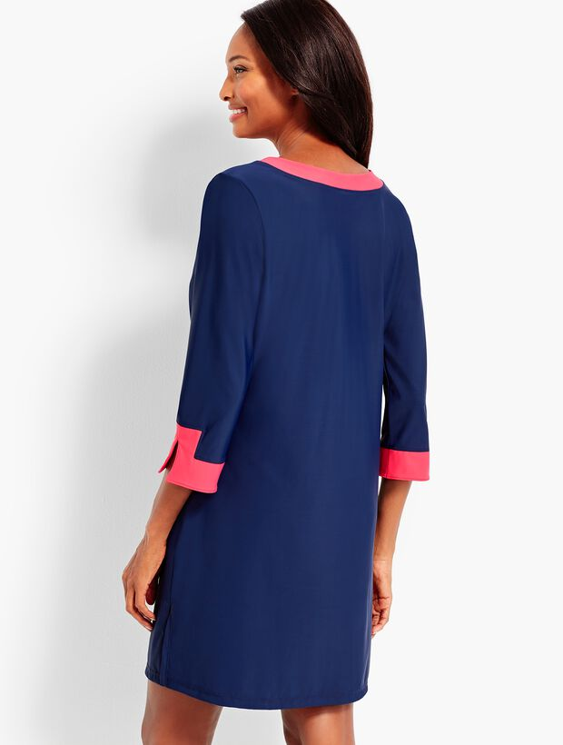 Contrast Border Swim Tunic