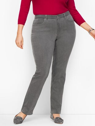Plus Size Straight Leg Jeans - Curvy Fit - Deep Grey
