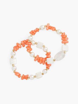 Beach Beads Stretch Bracelet