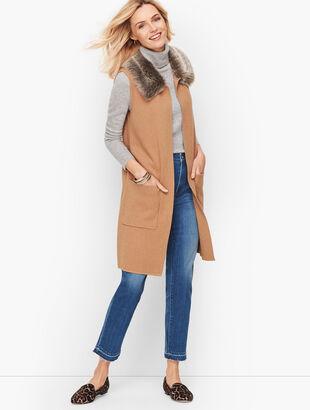 Milano Stitch Faux Fur Vest