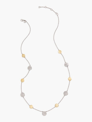 Mixed Texture Layered Necklace