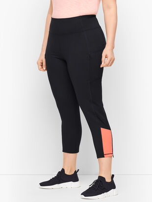 Colorblock Sport Cropped Leggings