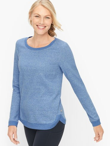 Featherweight Fleece Curved Hem Sweatshirt