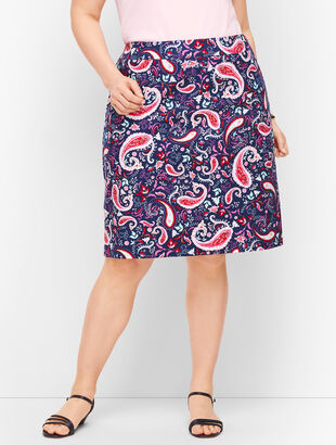 Paisley Watercolor Canvas A-Line Skirt