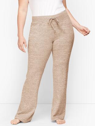 Brushed Mélange Bootcut Pants