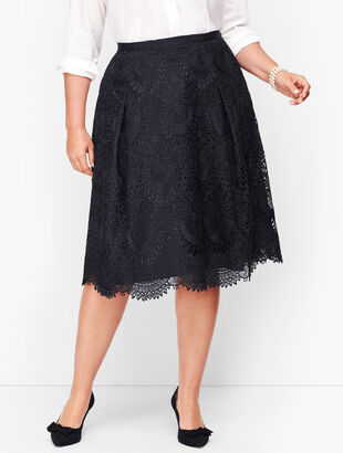 Pleated Lace Full Skirt