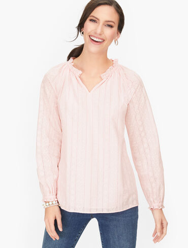 Embroidered Feminine Detail Top