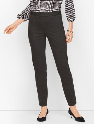 Luxe Knit Slim Ankle Pants