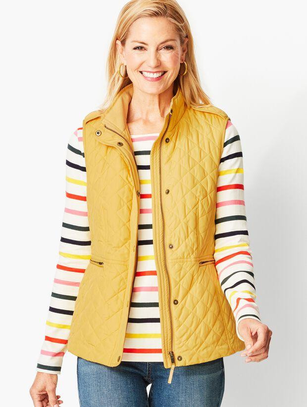 Quilted Fleece-Lined Vest