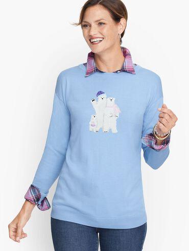 Polar Bear Cotton Blend Sweater