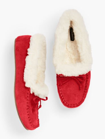 Ruby Suede Slippers