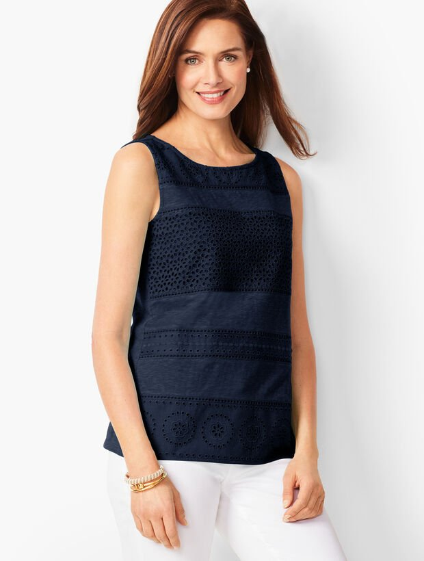 Embroidered Panel Tank