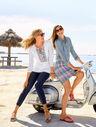 Madras Plaid Linen-Blend Skirt