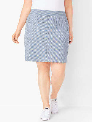 Bias Stripe Skort