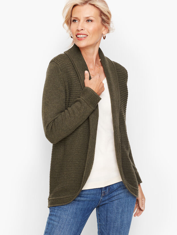 Mix Stitch Cocoon Sweater