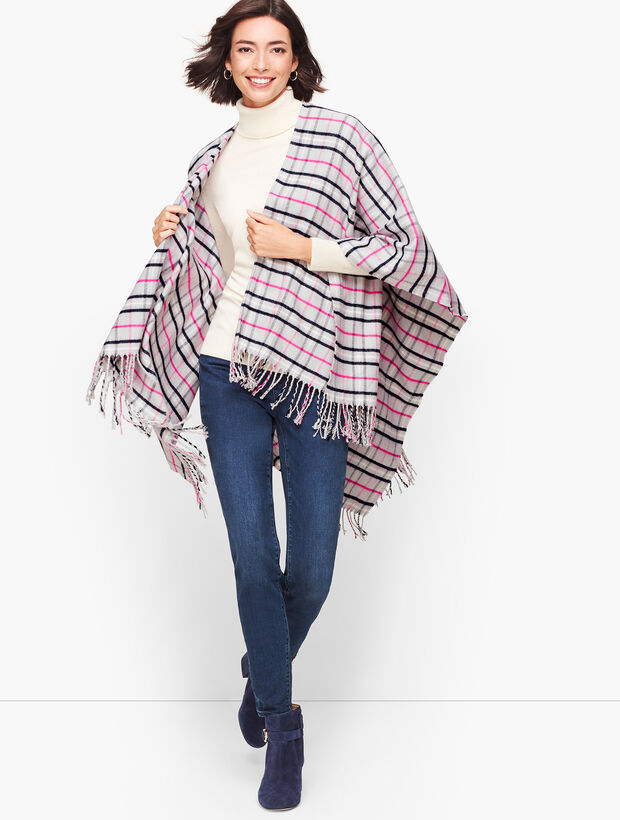 Arctic Plaid Ruana