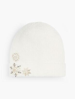 Snowflake Embellished Hat