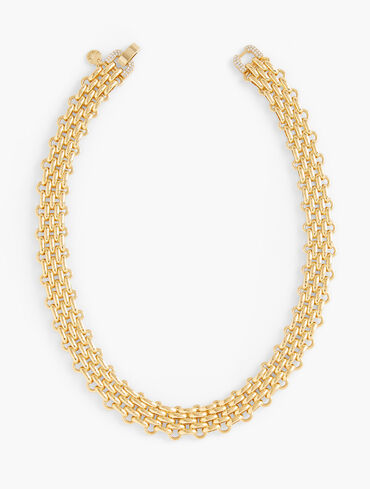 Modern Metal Flat Necklace