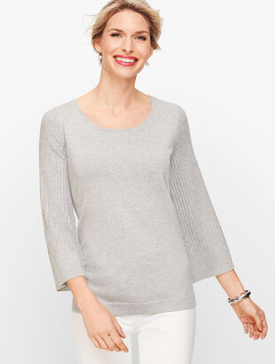 Flared Sleeve Sweater - Shimmer